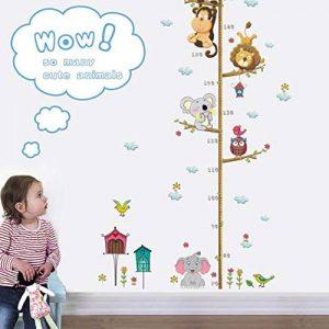 Qiopes Autocollant de Taille de Dessin animé Mignon d'autocollant de Mur d'autocollant de décoration de Maison Stickers muraux de la marque Qiopes image 0 produit