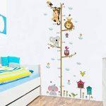 Qiopes Autocollant de Taille de Dessin animé Mignon d'autocollant de Mur d'autocollant de décoration de Maison Stickers muraux de la marque Qiopes image 3 produit