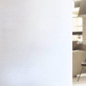 rabbitgoo Film Electrostatique Film Intimité Opaque Film Dépoli Blanc de Fenêtre 44.5*200CM Film de Protection UV Autocollant Fenêtre Effet Verre Mate pour Bureau,Maison,Salle de Bain,Chambre,Cuisine de la marque rabbitgoo image 0 produit