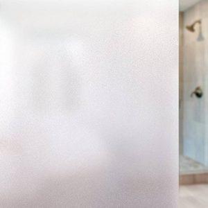 rabbitgoo Film Electrostatique Protége Intimité Film Dépoli de Fenêtre 90 * 200CM Film Vitre de Protection UV Autocollant de Fenêtre Effet Verre Mate pour Bureau Maison Salle de Bain Chambre Cuisine de la marque rabbitgoo image 0 produit