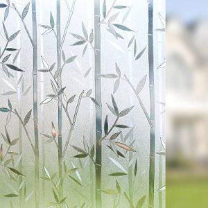 rabbitgoo® Film Intimité pour Vitre Statique Décoratif Film Adhésif Fenêtre Vitrage Autocollant 90 cm × 200 cm Motif Bambou de la marque rabbitgoo image 0 produit