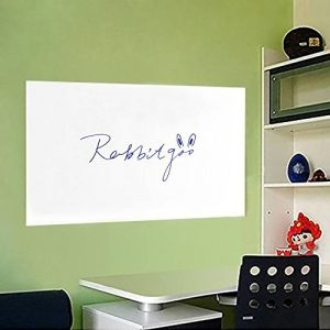 rabbitgoo Grand Tableau Blanc Adhésif Multifonction Ardoise Effaçable Sticker Autocollant Mural Rouleau Adhésif Whitebord 44.5cm x 199cm avec 1 Marqueur pour l'Ecole/Bureau/Accueil - Blanc de la marque Rabbitgoo image 0 produit
