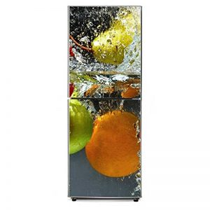 RAIN QUEEN 1 Rouleau Géant Sticker Autocollant Pour Frigo Porte Armoire Meuble Mural Rénovation Amovible Imperméable Décoration Maison (60X150cm, Frais Fruit) de la marque RAIN-QUEEN image 0 produit