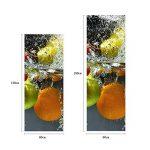 RAIN QUEEN 1 Rouleau Géant Sticker Autocollant Pour Frigo Porte Armoire Meuble Mural Rénovation Amovible Imperméable Décoration Maison (60X150cm, Frais Fruit) de la marque RAIN-QUEEN image 3 produit