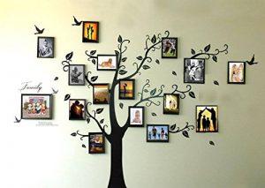 Rainbow Fox Grand Noir Photo Cadres 16 Cadres Mémoire Arbre Autocollant mural Amovible Sticker mural pour Salon (180cm * 250cm) de la marque Rainbow-Fox image 0 produit
