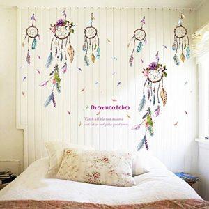 Reefa Tableau Mural Sticker Mural Autocollant Plumes Capteur de Rêves Salon Salle de bain Cuisine chambre adulte de la marque Reefa image 0 produit