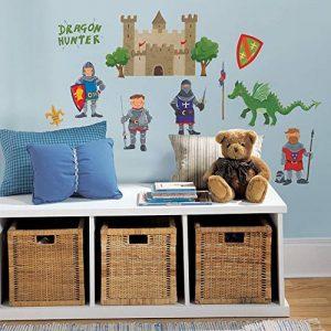 RoomMates Stickers muraux repositionnables Enfant Chevaliers et dragons de la marque Thedecofactory image 0 produit