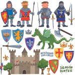 RoomMates Stickers muraux repositionnables Enfant Chevaliers et dragons de la marque Thedecofactory image 2 produit