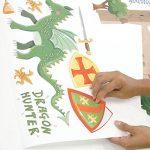 RoomMates Stickers muraux repositionnables Enfant Chevaliers et dragons de la marque Thedecofactory image 4 produit