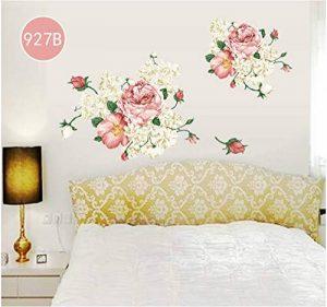 Rose Moderne Maison Salon Décoration Murale Art Pivoine Fleurs Sticker Mural Murale Bricolage Art Chambre Décoration De Mariage Accessoires 60X60 Cm de la marque WYTCY image 0 produit