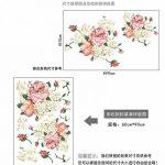 Rose Moderne Maison Salon Décoration Murale Art Pivoine Fleurs Sticker Mural Murale Bricolage Art Chambre Décoration De Mariage Accessoires 60X60 Cm de la marque WYTCY image 2 produit