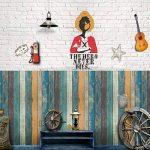 rustique Planche de bois Grain en papier Contact de vinyle autocollant Papier peint pour armoires de cuisine Porte Tiroir pour Dosseret Countertop Sticker mural 45x 500,4cm de la marque glow4u image 2 produit