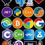 Sanmatic Autocollant Lot 72Pcs Stickers pour Ordinateur Portable langage Autocollant de Programmation développeur Logo de l'autocollant IT,C ++,Python,Linux,Swift,Geeks,Pirates informatiques,codeurs de la marque Sanmatic image 3 produit