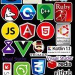 Sanmatic Autocollant Lot 72Pcs Stickers pour Ordinateur Portable langage Autocollant de Programmation développeur Logo de l'autocollant IT,C ++,Python,Linux,Swift,Geeks,Pirates informatiques,codeurs de la marque Sanmatic image 2 produit