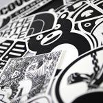 Sanmatic Autocollant Lot Pack [120pcs], Stickers Autocollants Noir et Blanc Vinyle pour Ordinateur Portable, Voitures, Moto, Bicyclette, Bagages Skateboard, Autocollants pour Voiture Bombe Étanche de la marque Sanmatic image 2 produit