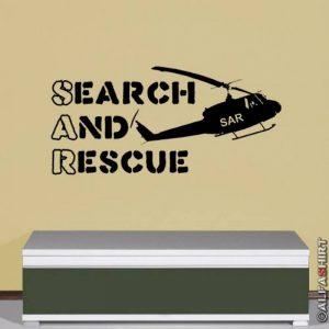 Sar search and rescue militaire recherche sauver l'organisation de l'aviation -wandschmuck sticker mural motif voiture noir 45 cm - 5839 96 cm de la marque Copytec image 0 produit
