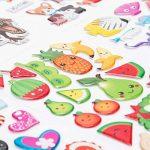 SAVITA Stickers for Kids 500+ Pack de variétés d'autocollants Puffy, Autocollants Puffy 3D Comprenant des Lettres, des Chiffres, des Papillons, du Poisson, des Dinosaures et Plus de la marque SAVITA image 3 produit