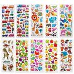 SAVITA Stickers for Kids 500+ Pack de variétés d'autocollants Puffy, Autocollants Puffy 3D Comprenant des Lettres, des Chiffres, des Papillons, du Poisson, des Dinosaures et Plus de la marque SAVITA image 1 produit
