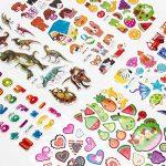 SAVITA Stickers for Kids 500+ Pack de variétés d'autocollants Puffy, Autocollants Puffy 3D Comprenant des Lettres, des Chiffres, des Papillons, du Poisson, des Dinosaures et Plus de la marque SAVITA image 4 produit