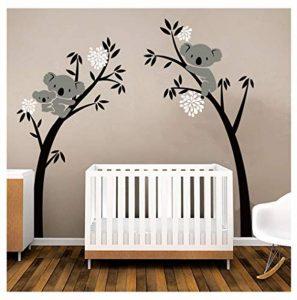Sayala Koala Arbre Stickers Muraux - Mon-Baby-Dad Koala Branches Stickers/Autocollant Adhésif Mural Pour Chambre Enfants Bébé Nursery Room Decor,2.5 * 2mm (Blanc) de la marque Sayala image 0 produit