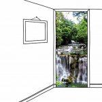 Scenolia Poster Sticker de Porte Petite Cascade 85 x 205 cm | Déco Murale Qualité HD de la marque Scenolia image 1 produit