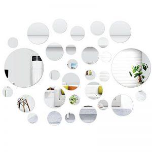 SelfTek 30 pièces autocollants muraux miroir autocollants muraux autocollants ronds décoration de la maison de bricolage de la marque SelfTek image 0 produit