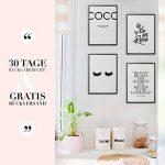 Set de 4 Posters   Coco Chanel   Muraux Imprimés à Phrase de Motivation   Format A4 de Haute Qualité 300 GSM   Affiches d'Art Moderne et de Citation Sans Cadre pour Chambre, Bureau   21x29.7 cm de la marque HEIMlich-Design image 4 produit
