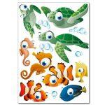 """Set de stickers muraux Wandkings """"Le monde sous-marin de l'océan"""" Kit d'autocollants – plus de 45 motifs autocollants sur 3 planches DIN A4 de la marque Wandkings image 3 produit"""
