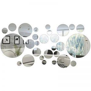 Shappy 32 Pièces Miroir Cercle Rond Autocollants Miroirs Ronds Décoration de la Maison de la marque Shappy image 0 produit