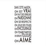 Shuyinju Langue Française Texte Inspirant Famille Mots Citation Sticker Mural Vinyle Famille Sticker Mural Autocollant Art Décoration de la marque shuyinju image 3 produit