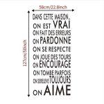 Shuyinju Langue Française Texte Inspirant Famille Mots Citation Sticker Mural Vinyle Famille Sticker Mural Autocollant Art Décoration de la marque shuyinju image 4 produit