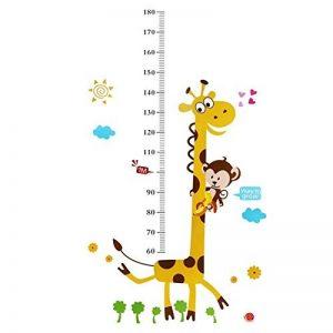Singe d'escalade sur Girafe Hauteur croissance de mesure Tableau Sticker mural enfants Sticker mural de la marque Rainbow-Fox image 0 produit