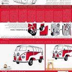 Smartdeco 1962 Sticker mural Bus Samba Volkswagen T1 Rouge de la marque Smartdeco image 4 produit