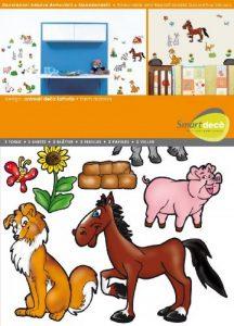 Smartdeco Décalcomanie murale 31 pièces de animaux de la ferme de la marque Smartdeco image 0 produit