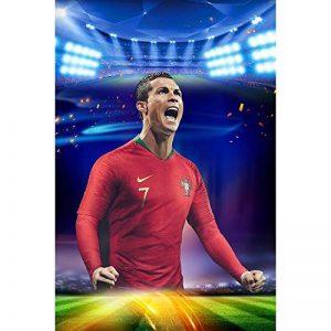 Star Légendaire Cristiano! Capitaine De L'équipe De Football Portugaise Ronaldo HD Poster Fans Décoratifs Stickers Muraux Sport de la marque Earendel image 0 produit
