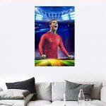 Star Légendaire Cristiano! Capitaine De L'équipe De Football Portugaise Ronaldo HD Poster Fans Décoratifs Stickers Muraux Sport de la marque Earendel image 3 produit