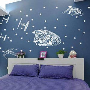 Star Wars vaisseau spatial autocollant mural chambre de garçon chambre Star Wars Starfighters Star Sticker chambre enfant vie de la marque Wisero image 0 produit