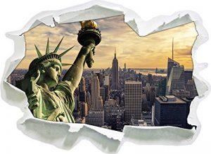 Statue géante de la Liberté à New York, Papier 3D Sticker Mural Taille: 62x45 cm décoration Murale 3D Stickers muraux Stickers de la marque Stil-Zeit image 0 produit