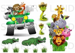 STICKER'S LAND Stickers décoratifs Animaux de la Jungle Autocollant Feuille 21 x 28 cm en Papier adhesif Transparent de la marque STICKER'S LAND image 0 produit