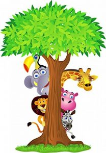 sticker Autocollant enfant Animaux de la jungle 70x100cm réf 2639 de la marque N/D image 0 produit