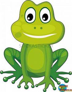 Sticker Autocollant Enfant grenouille 31x29cm de la marque Stickasticker image 0 produit