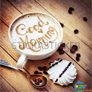 Sticker autocollant Lave Vaisselle Café Good Morning 60x60cm SLV0081 de la marque N/D image 0 produit