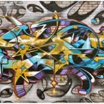 Sticker Autocollant Tête de Lit Tag Graffiti - Satdl0940 (140x56cm) de la marque PPA-DESIGN image 1 produit