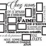 Sticker Chez Nous On S'aime ... en photos - 11 cadres photos pour photos de 10x15 cm- Taille du sticker 100x90 cm - Noir - marque Beestick de la marque Beestick image 1 produit