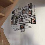 Sticker Chez Nous On S'aime ... en photos - 11 cadres photos pour photos de 10x15 cm- Taille du sticker 100x90 cm - Noir - marque Beestick de la marque Beestick image 2 produit