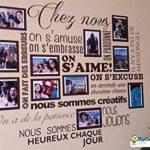 Sticker Chez Nous On S'aime ... en photos - 11 cadres photos pour photos de 10x15 cm- Taille du sticker 100x90 cm - Noir - marque Beestick de la marque Beestick image 3 produit