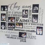 Sticker Chez Nous On S'aime ... en photos - 11 cadres photos pour photos de 10x15 cm- Taille du sticker 100x90 cm - Noir - marque Beestick de la marque Beestick image 4 produit