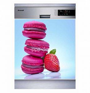 Sticker Cuisine Lave Vaisselle Macarons 60x60cm - SLV1138 (Fond Blanc) de la marque PPA-DESIGN image 0 produit