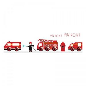 sticker decoratif : frise pompiers de la marque DECOLOOPIO image 0 produit