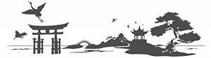 Sticker mural 11478 I-love-Wandtattoo - Motif: paysage asiatique de la marque I-love-Wandtattoo image 0 produit
